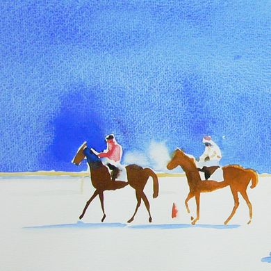 Art - White Turf St. Moritz 2 - Urs. J. Knobel - Art and Illustration - Baar (Switzerland)