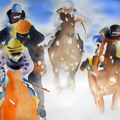 Art - White Turf St. Moritz 3 - Urs. J. Knobel - Art and Illustration - Baar (Switzerland)